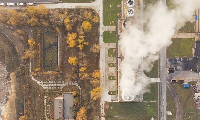 Luftverschmutzung durch Industrie