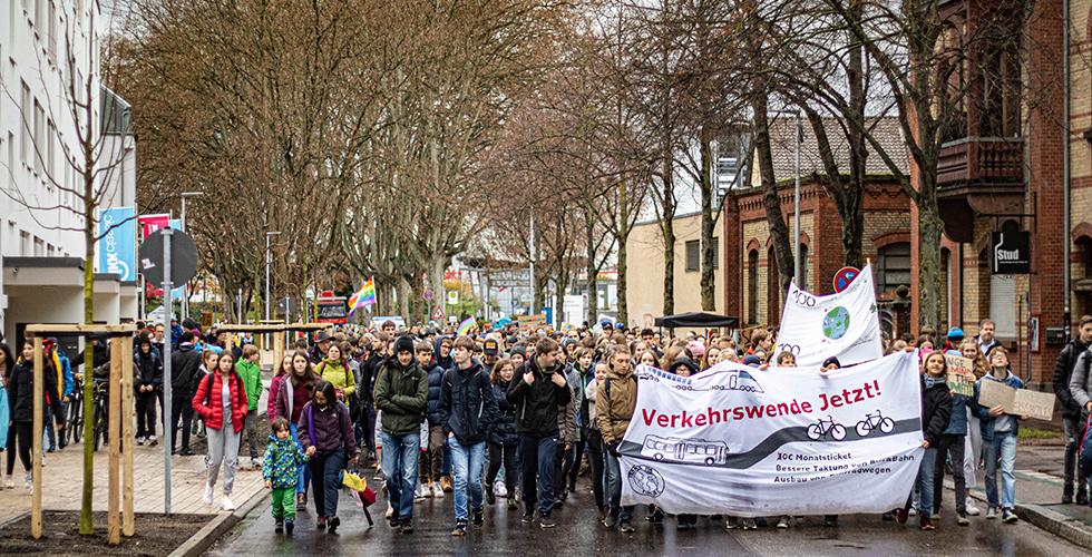 FFF Ortenau bei Demonstration