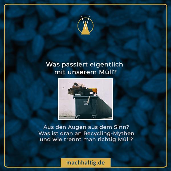 Pinterestbild zum Pinnen zu Müll-Beitrag